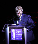 Dave Malloy on stage at the 73rd Annual Theatre World Awards at The Imperial Theatre on June 5, 2017 in New York City.