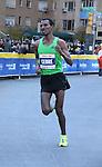 Gebre Gebremariam, Ethiopia - Men's Winner of NY Marathon on November 7, 2010 in New York City, New York through 45 buroughs. (Photo by Sue Coflin/Max Photos)