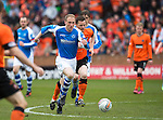 Dundee United v St Johnstone.....04.05.13      SPL.Steven Anderson gets away from Jon Daly.Picture by Graeme Hart..Copyright Perthshire Picture Agency.Tel: 01738 623350  Mobile: 07990 594431