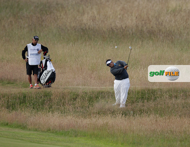 Kiradech APHIBARNRAT (THA) during round one of  The 142th Open Championship Muirfield, Gullane, East Lothian, Scotland 18/7/2013<br /> Picture Eoin Clarke www.golffile.ie: