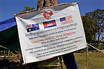 Sign Of Cambodian Deminers
