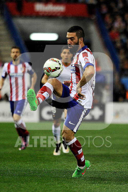 Atletico de Madrid´s Arda Turan during 2014-15 La Liga match between Atletico de Madrid and Valencia CF at Vicente Calderon stadium in Madrid, Spain. March 08, 2015. (ALTERPHOTOS/Luis Fernandez)