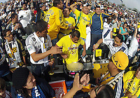 CARSON, CA - DECEMBER 01, 2012:  Fans of the Los Angeles Galaxy during the 2012 MLS Cup at the Home Depot Center, in Carson, California on December 01, 2012. The Galaxy won 3-1.
