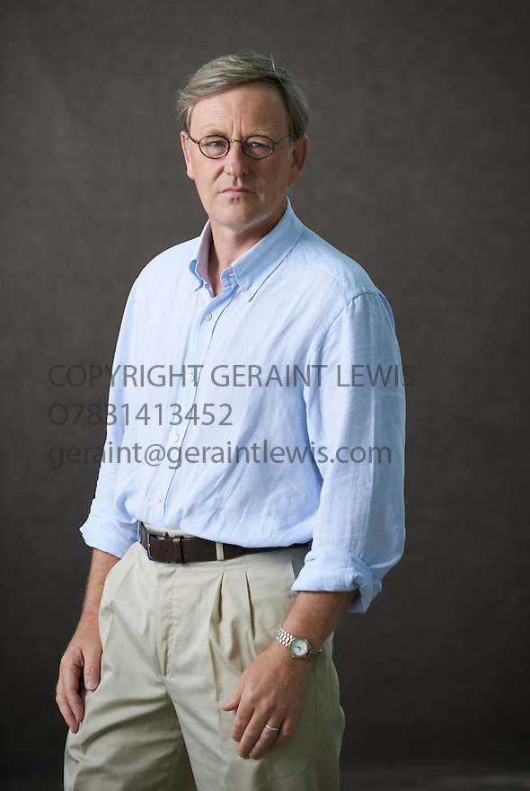 William Brodrick, author and writer of The Day of The Lie at The Edinburgh International Book Festival   . Credit Geraint Lewis
