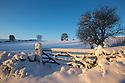 Winter scene with gate near Bonsall, Peak District Natioanl Park, Derbyshire. December.