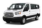 2019 Ford Transit Wagon 150 XLT Wagon Low Roof Sliding Pass. 130 5 Door Passenger Van angular front stock photos of front three quarter view