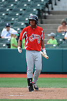 Lowell Spinners infielder Cleuluis Rondon (5) during game against the Brooklyn Cyclones at MCU Park on July 9, 2013 in Brooklyn, NY.  Lowell defeated Brooklyn 5-2.  (Tomasso DeRosa/Four Seam Images)