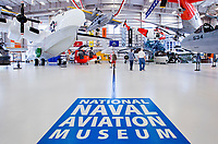 Hangar Bay One is the newest building at the Naval Aviation Museum displaying a mix of Navy and Coast Guard aircraft.<br /> <br /> <br /> COLIN HACKLEY PHOTO