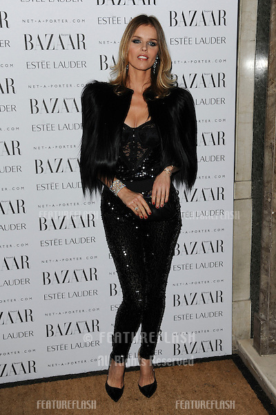 Eva Herzigova arriving for the Harpers Bazaar Women of the Year Awards 2011 at Claridges, London. 07/11/2011 Picture by: Steve Vas / Featureflash