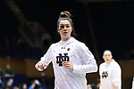 DURHAM, NC - FEBRUARY 04: Notre Dame's Kathryn Westbeld. The Duke University Blue Devils hosted the University of Notre Dame Fighting Irish on February 4, 2018 at Cameron Indoor Stadium in Durham, NC in a Division I women's college basketball game. Notre Dame won the game 72-54.
