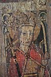 Medieval rood screen paintings, St Andrew church, Westhall, Suffolk, England, UK - St Margaret of Antioch