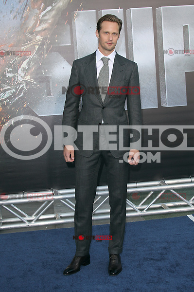 Alexander Skarsgard at the film premiere of 'Battleship,' at the NOKIA Theatre at L.A. LIVE in Los Angeles, California. May, 10, 2012. ©mpi20/MediaPunch Inc.
