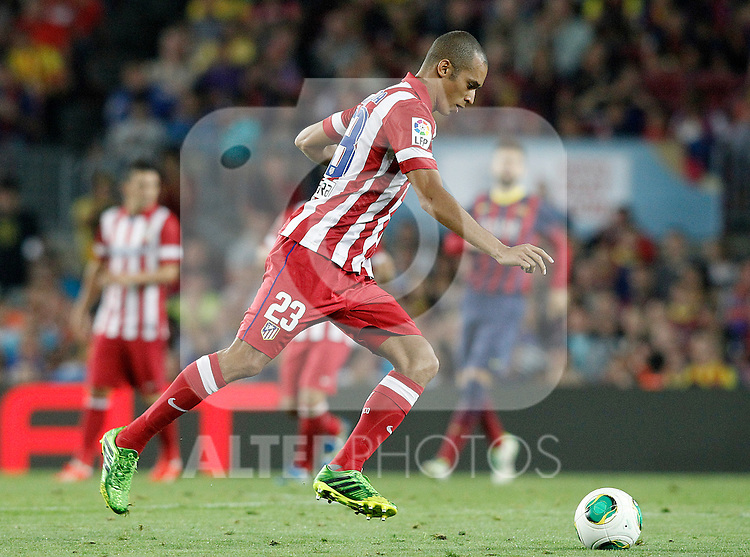 Atletico de Madrid's Joao Miranda during Supercup of Spain 2nd match.August 28,2013. (ALTERPHOTOS/Acero)