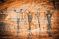 Sego Canyon Pictographs - Utah