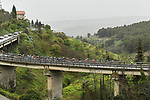 Another wet day for the riders during Stage 3 of Il Giro di Sicilia running 186km from Caltanissetta to Ragusa, Italy. 5th April 2019.<br /> Picture: LaPresse/Fabio Ferrari | Cyclefile<br /> <br /> <br /> All photos usage must carry mandatory copyright credit (© Cyclefile | LaPresse/Fabio Ferrari)