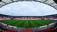 A general view of Parc Y Scarlets, Llanelli, home of Scarlets<br /> <br /> Photographer Ian Cook/CameraSport<br /> <br /> European Rugby Champions Cup - Scarlets v Racing 92 - Saturday 13th October 2018 - Parc y Scarlets - Llanelli<br /> <br /> World Copyright &copy; 2018 CameraSport. All rights reserved. 43 Linden Ave. Countesthorpe. Leicester. England. LE8 5PG - Tel: +44 (0) 116 277 4147 - admin@camerasport.com - www.camerasport.com
