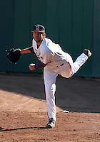 April 8, 2005:  Pitcher Brian Tallet of the Buffalo Bisons during a game at Dunn Tire Park in Buffalo, NY.  Buffalo is the International League Triple-A affiliate of the Cleveland Indians.  Photo by:  Mike Janes/Four Seam Images