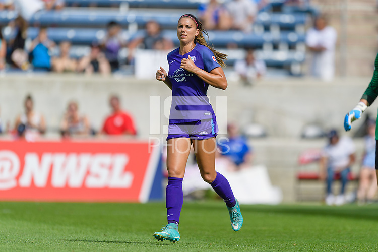 Bridgeview, IL - Saturday July 22, 2017: Alex Morgan during a regular season National Women's Soccer League (NWSL) match between the Chicago Red Stars and the Orlando Pride at Toyota Park. The Red Stars won 2-1.