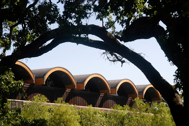 Chandon winery architecture, Yountville, CA