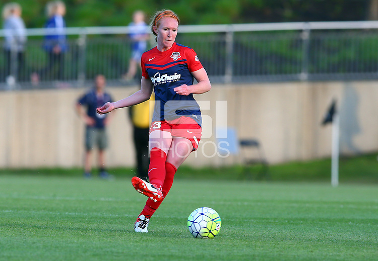 Boyds, MD - Saturday May 07, 2016: Washington Spirit midfielder Victoria Huster (23) during a regular season National Women's Soccer League (NWSL) match at Maureen Hendricks Field, Maryland SoccerPlex. Washington Spirit tied the Portland Thorns 0-0.
