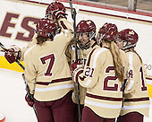 Taylor Wasylk (BC - 9), Dru Burns (BC - 7), Dana Trivigno (BC - 8), Lexi Bender (BC - 21), Emily Pfalzer (BC - 14) - The Boston College Eagles defeated the visiting University of Maine Black Bears 10-0 on Saturday, December 1, 2012, at Kelley Rink in Conte Forum in Chestnut Hill, Massachusetts.