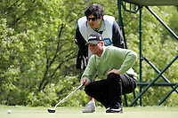 Martin Erlandsson lines up his putt on the 2nd green during the third round of the Irish Open on 19th of May 2007 at the Adare Manor Hotel & Golf Resort, Co. Limerick, Ireland. (Photo byEoin Clarke/NEWSFILE).