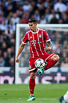 James Rodriguez of FC Bayern Munich in action during the UEFA Champions League Semi-final 2nd leg match between Real Madrid and Bayern Munich at the Estadio Santiago Bernabeu on May 01 2018 in Madrid, Spain. Photo by Diego Souto / Power Sport Images