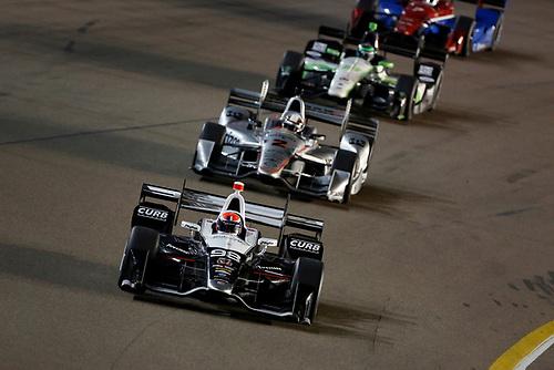 1-2 April, 2016, Avondale, Arizona USA<br /> 98 Alexander Rossi leads 2 Juan Pablo Montoya<br /> ©2016, Phillip Abbott<br /> LAT Photo USA