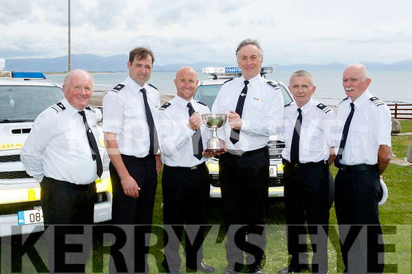 Saving Lives<br /> -----------------<br /> Irish Coast Guard members L-R Bernard Hehir, officer in charge, Glenderry, TJ Flahive, volunteer, Glenderry, John Michael Pierce, volunteer Glenderry, Garry Kavanagh, volunteer Ballybunion, Jim Enright, deep officer in charge and TJ McCarron, officer in charge, Ballybunion, pictured in Ballyheigue last Sunday after Michael John Pierce&amp;Garry Kavanagh won an Irish title in Joint Search&amp;Rescue (JSAR) competition recently.