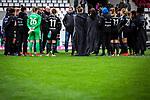 16.03.2019, Stadion Essen, Essen, GER, AFBL, SGS Essen vs TSG 1899 Hoffenheim, DFL REGULATIONS PROHIBIT ANY USE OF PHOTOGRAPHS AS IMAGE SEQUENCES AND/OR QUASI-VIDEO<br /> <br /> im Bild | picture shows:<br /> Mannschaftskreis des FFC nach dem Spiel, <br /> <br /> Foto &copy; nordphoto / Rauch