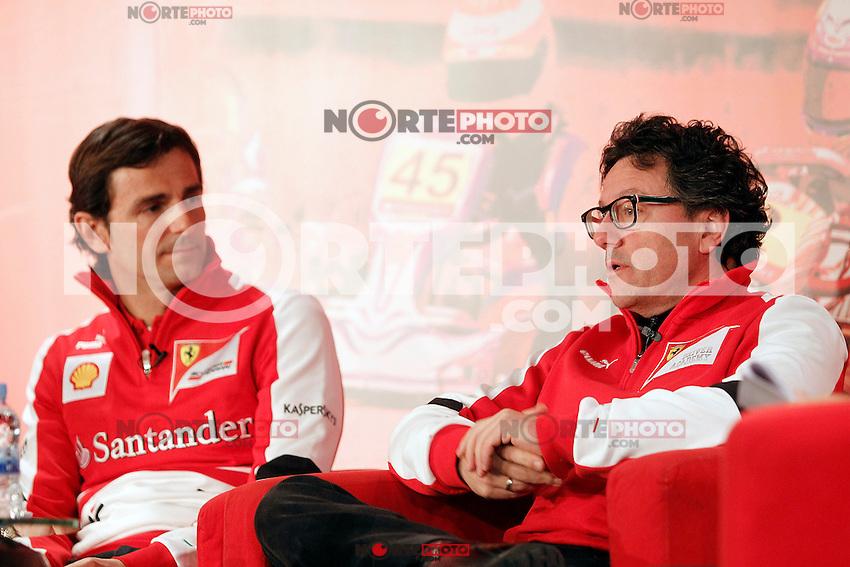 The test driver for Ferrari Pedro de la Rosa (l) and Luca Baldisserri director of the Ferrari Driver Academy during the gala Santander  Karting Champions 2012..(Alterphotos/Acero) NortePhoto