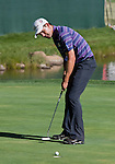 August 5, 2012: Padraig Harrington from Dublin, Ireland sinks a putt on the 18th hole during the final round of the 2012 Reno-Tahoe Open Golf Tournament at Montreux Golf & Country Club in Reno, Nevada.