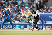 Kane Williamson (New Zealand) pushes into the on side during India vs New Zealand, ICC World Cup Warm-Up Match Cricket at the Kia Oval on 25th May 2019