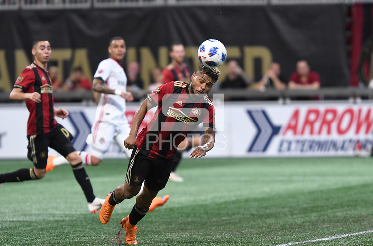Atlanta, Georgia - Saturday, August 4, 2018: Atlanta United drew with Toronto FC, 2-2, in front of a crowd of 45,191 at Mercedes-Benz Stadium.