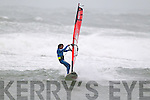 Competitor Boujmaa Goilloul pictured at the Red Bull Storm Chase windsurfing competition at the Maherees on Monday.
