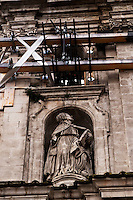 L'Aquila  20 Novembre 2010.Sos L'Aquila chiama Italia.La città  del L'Aquila  dopo 18 mesi dal terremoto..Chiesa di Santa Maria del Suffragio detta delle Anime Sante (1713).Sos L'Aquila called  Italy.The city of L'Aquila 18 months after the earthquake.Santa Maria del Suffragio's church, wellknown as Purgatory Church or Saint Souls Church