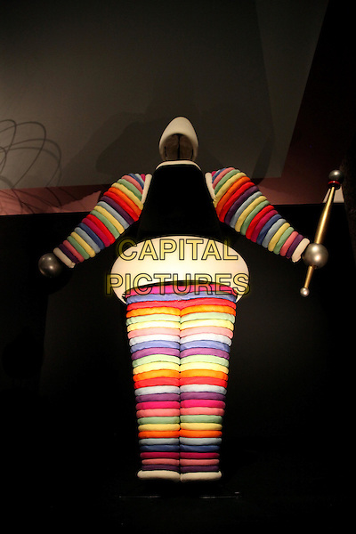 Bauhaus: Art as Life exhibition at the Barbican, London, England..May 2nd, 2012.gv general view rainbow striped stripes .CAP/JEZ  .©Jez/Capital Pictures.