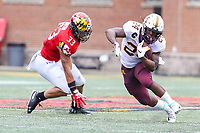 College Park, MD - September 22, 2018:  Minnesota Golden Gophers running back Mohamed Ibrahim (24) runs the ball during the game between Minnesota and Maryland at  Capital One Field at Maryland Stadium in College Park, MD.  (Photo by Elliott Brown/Media Images International)