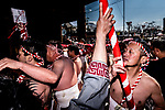 FEBRUARY 17, 2019 - Men in loincloths participate in the Konomiya Hadaka Matsuri, or Naked Festival, in Inazawa City, Aichi Prefecture, Japan.<br /> <br /> The festival, which dates to A.D. 767, is held annually to ward off bad luck. (Photo by Ben Weller/AFLO) (JAPAN) [UHU]