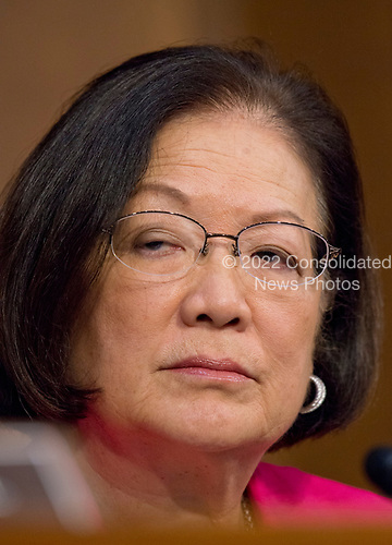 United States Senator Mazie Hirono (Democrat of Hawaii)  listens as Judge Neil Gorsuch testifies before the United States Senate Judiciary Committee on his nomination as Associate Justice of the US Supreme Court to replace the late Justice Antonin Scalia on Capitol Hill in Washington, DC on Monday, March 20, 2017.<br /> Credit: Ron Sachs / CNP<br /> (RESTRICTION: NO New York or New Jersey Newspapers or newspapers within a 75 mile radius of New York City)