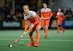 AMSTELVEEN - Billy Bakker (Ned)   tijdens de hockeyinterland Nederland-Ierland (7-1) , naar aanloop van het WK hockey in India.COPYRIGHT KOEN SUYK