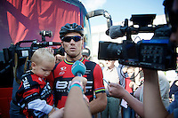 a lot of (Norwegian) attention for Thor Hushovds (NOR/BMC) farewell race (pre-race)<br /> <br /> GP Impanis 2014