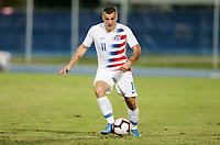 GEORGETOWN, GRAND CAYMAN, CAYMAN ISLANDS - NOVEMBER 19: Jordan Morris #11 of the United States moves with the ball during a game between Cuba and USMNT at Truman Bodden Sports Complex on November 19, 2019 in Georgetown, Grand Cayman.