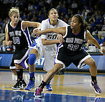 Sophomore Azia Bishop fights for a rebound at the Women's Basketball game at Memorial Coliseum in Lexington, Ky., on Saturday, November. 17, 2012..