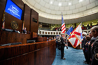TALLAHASSEE, FLA. 3/4/14-The Florida Senate during the opening day of the legislative session, March 4, 2014 at the Capitol in Tallahassee.<br /> <br /> COLIN HACKLEY PHOTO