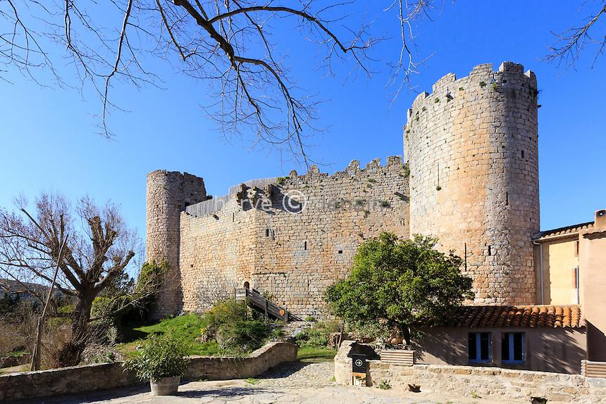 France, Aude (11), Villerouge-Termenès, le château de Villerouge-Termenès // France, Aude, Villerouge-Termenes, the castle
