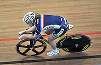 CALI – COLOMBIA – 14-01-2015: Soline Lamboley, de Francia, durante entrenamiento en el Velodromo Alcides Nieto Patiño, sede de la III Copa Mundo UCI de Pista de Cali 2014-2015  / Soline Lamboley, of Francia, during a training at the Alcides Nieto Patiño Velodrome, home of the III Cali Track World Cup 2014-2015 UCI. Photos: VizzorImage / Luis Ramirez / Staff.