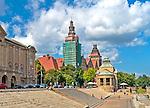 Szczecin, (woj. zachodniopomorskie), 15.07.2013. Wały Chrobrego, czyli Tarasy Hakena