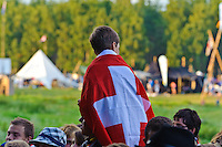 Swiss Scouts are celebrating thei National Day at the Jamboree