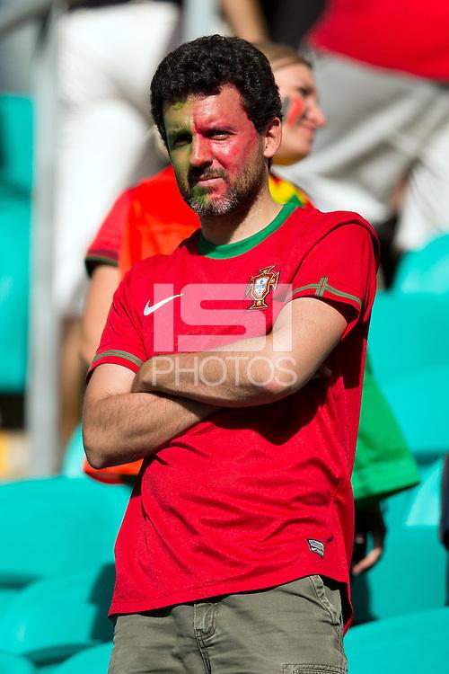 A dejected Portugal fan